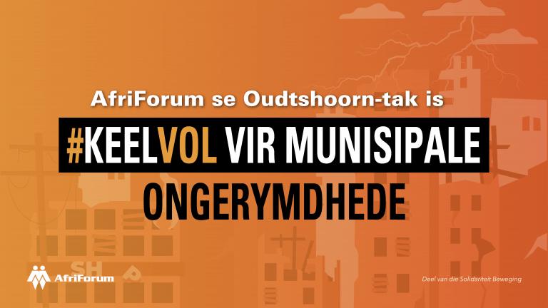 AfriForum se Oudtshoorn-tak is #keelvol vir munisipale ongerymdhede