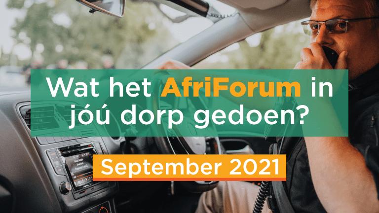 AFRIFORUM TAKSUKSESSE: September 2021